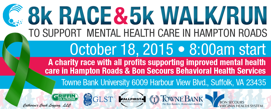 8k Race & 5k Walk/Run to Support Mental Health Care in Hampton Roads