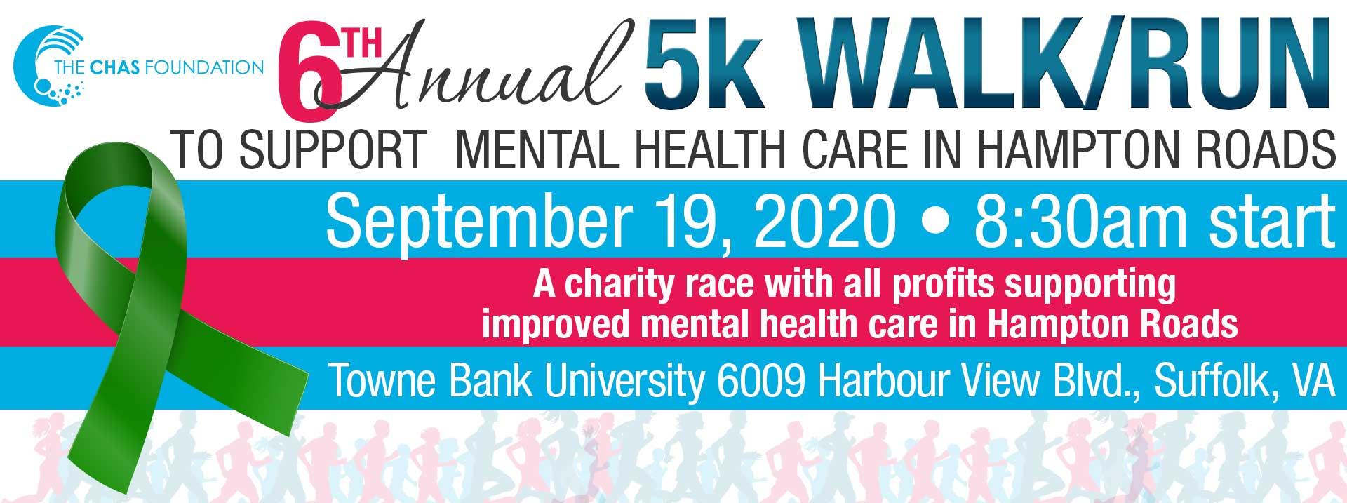 6th Annual Chas Foundation 5K Walk/Run