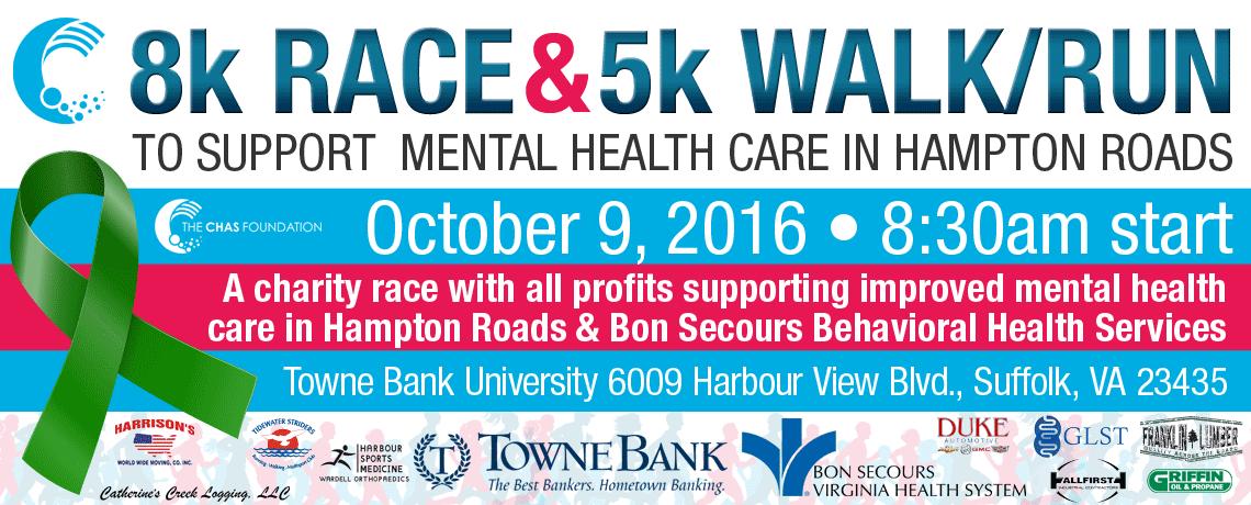 2nd Annual Chas Foundation 5K Walk/Run and 8K Run