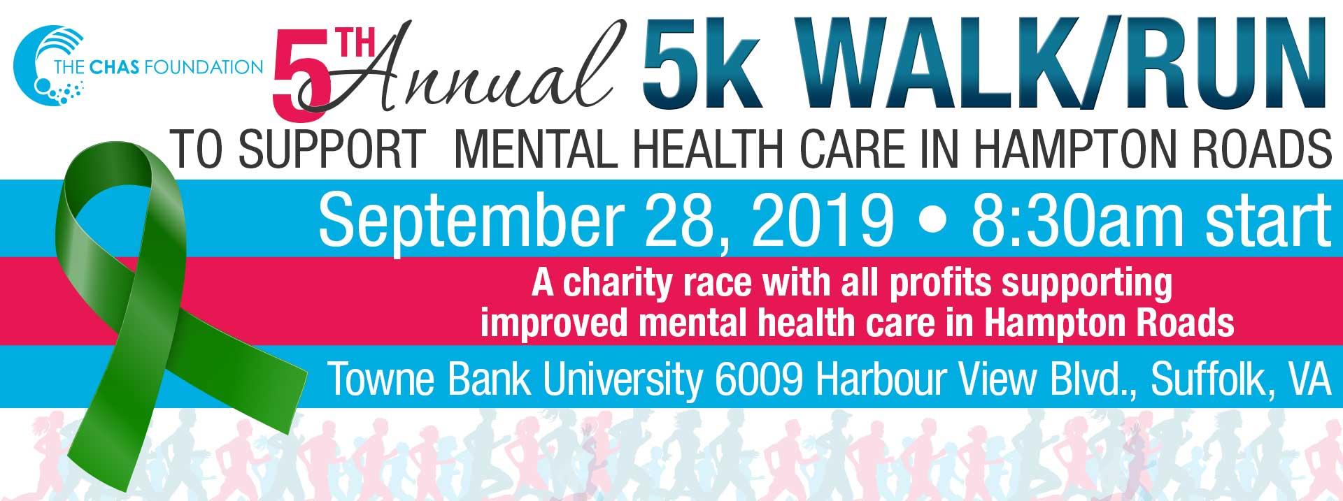 5th Annual Chas Foundation 5K Walk/Run